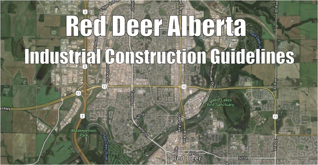 Red Deer Industrial Parks Map View