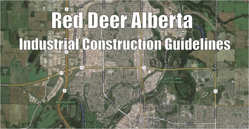 Red Deer Industrial Parks Map View