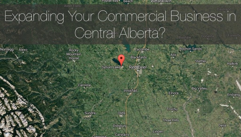 Central Alberta Construction Map